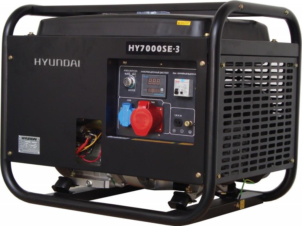 """Генератор HYUNDAI  """"HY 7000SE-3""""  мощностью 5кВТ"""