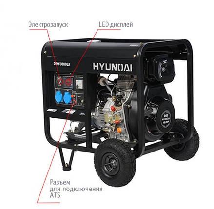 "Генератор HYUNDAI  ""DHY 6000LE""  мощностью 5кВТ, фото 2"