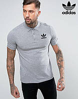 Мужская футболка с воротником Adidas, поло Адидас