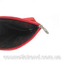 Косметичка женская красная из натуральной кожи Swan (Индия) 512139/red  18*11*5 см, фото 3