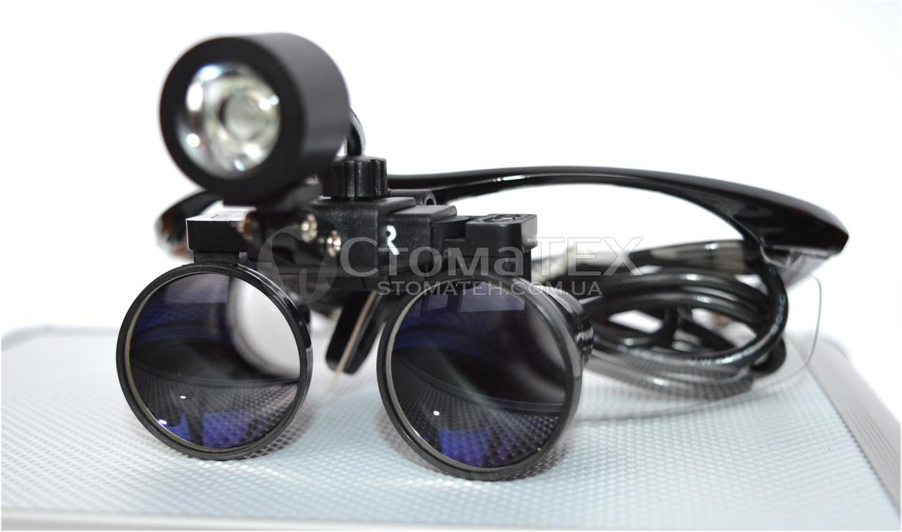 Комплект бинокуляры 3.5x-420 + подсветка, black NaviStom