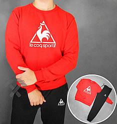 Спортивный костюм Le Coq Sportif черный красная толстовка