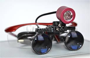 Комплект бинокуляры 3.5x-420 + подсветка, red