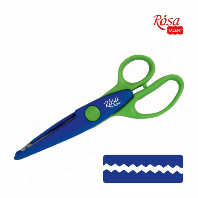 Ножницы фигурные № 3, 16,5*6,5 см, ROSA Talent, 94076107