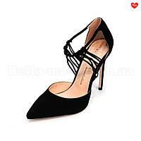 Замшевые туфли на шпильке Basconi