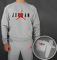 Спортивный костюм Jordan серый (люкс копия)