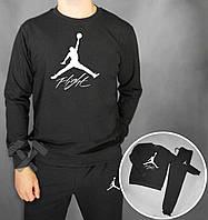 Спортивный костюм Jordan Flight черный (люкс копия)