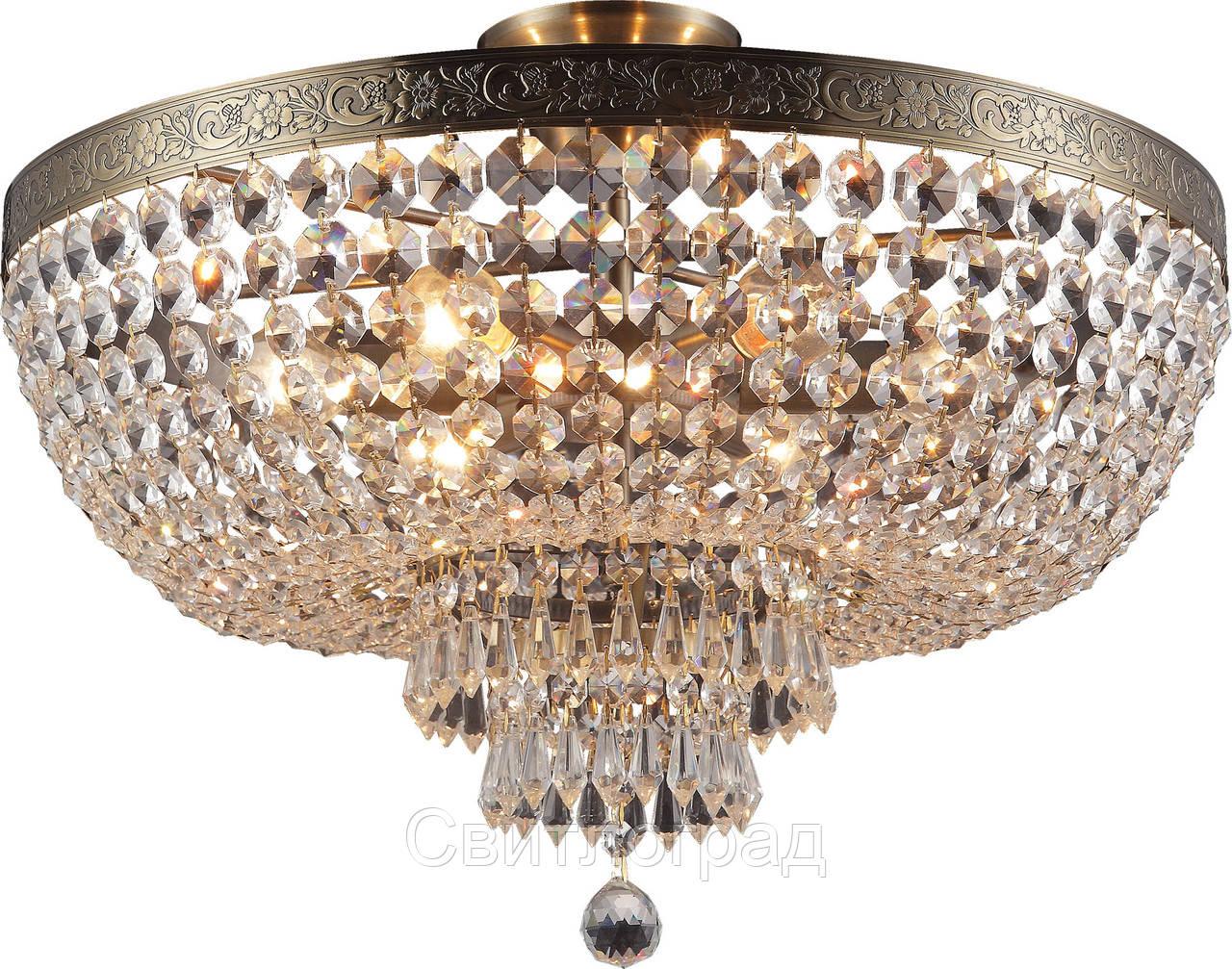 Люстра Хрустальная   Светильник Потолочный Altalusse INL-1115C-06 Antique Brass