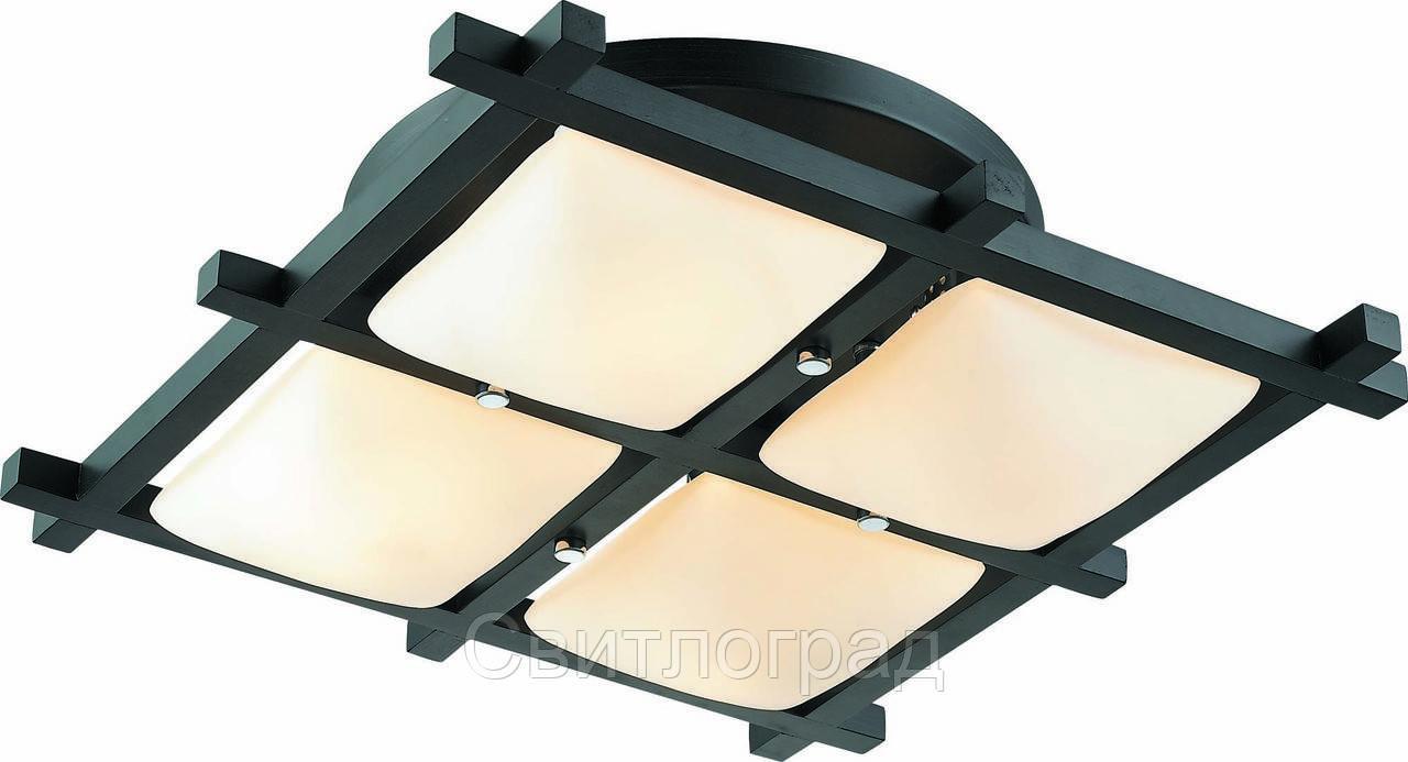 Светильник Потолочный Деревянный    Altalusse INL-3092C-04 Chrome & Wengue