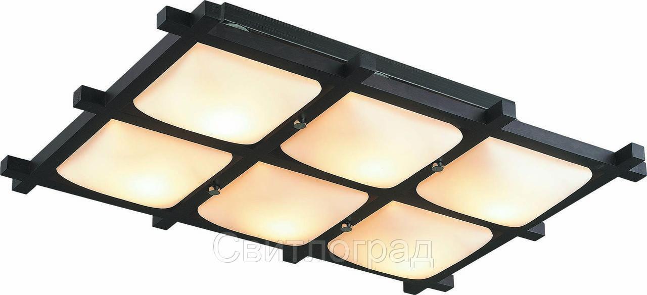 Светильник Потолочный Деревянный    Altalusse INL-3092C-06 Chrome & Wengue
