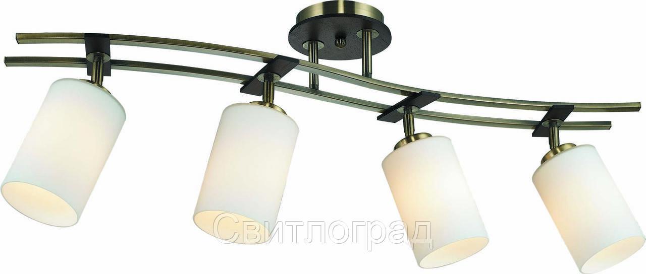 Светильник Потолочный с Плафонами    Altalusse INL-9276C-04 Antique Brass & Walnut