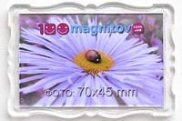 """Магнитик сувенирный """"Багет"""" 78х52 мм с фото 70х45 мм"""