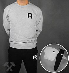 Спортивный костюм Reebok черный серая толстовка