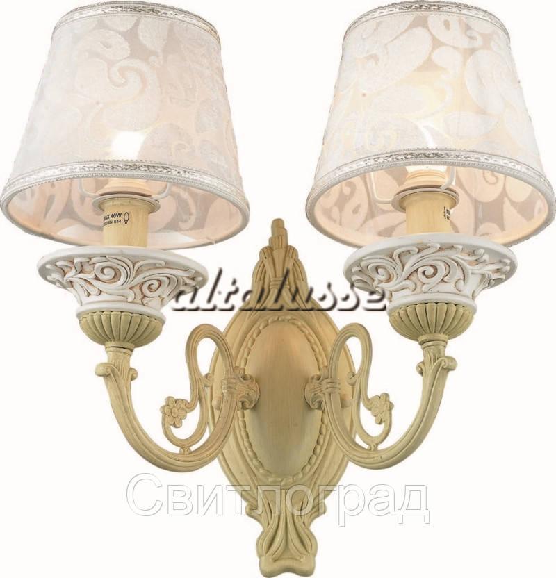 Бра Классика  c Абажурами  Altalusse INL-6099W-02 Ivory White