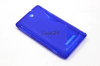 Чехол накладка для Sony Xperia E C1505 C1605 синий