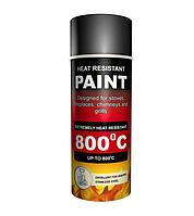Термостойкая краска Hansa (400мл) черная, фото 1