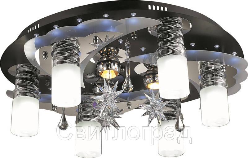 Светильник Потолочный с Led Подсветкой  с Плафонами  Altalusse LV168-09 Aluminium