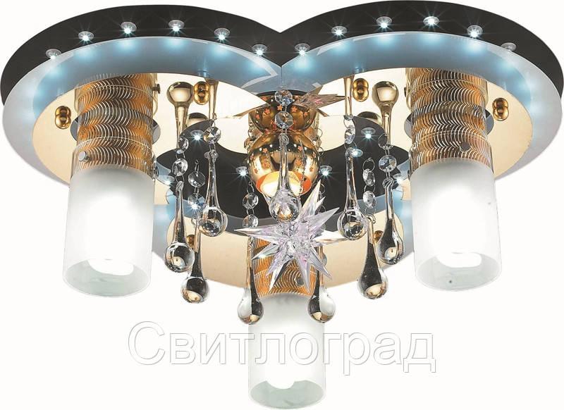 Светильник Потолочный с Led Подсветкой  с Плафонами  Altalusse LV203-04 Black & Gold