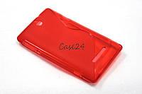Чехол накладка для Sony Xperia E C1505 C1605 красный, фото 1