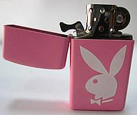 """Зажигалка ZIPPO(20831)розовая, матовая, с логотипом """" PLAYBOY"""", фото 1"""