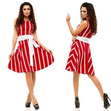 Платье в полоску с поясом, фото 2