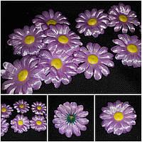 Ромашка для декора (головы искусственных цветов), диам. 7 см., 100 шт. в упаковке, 90 гр.
