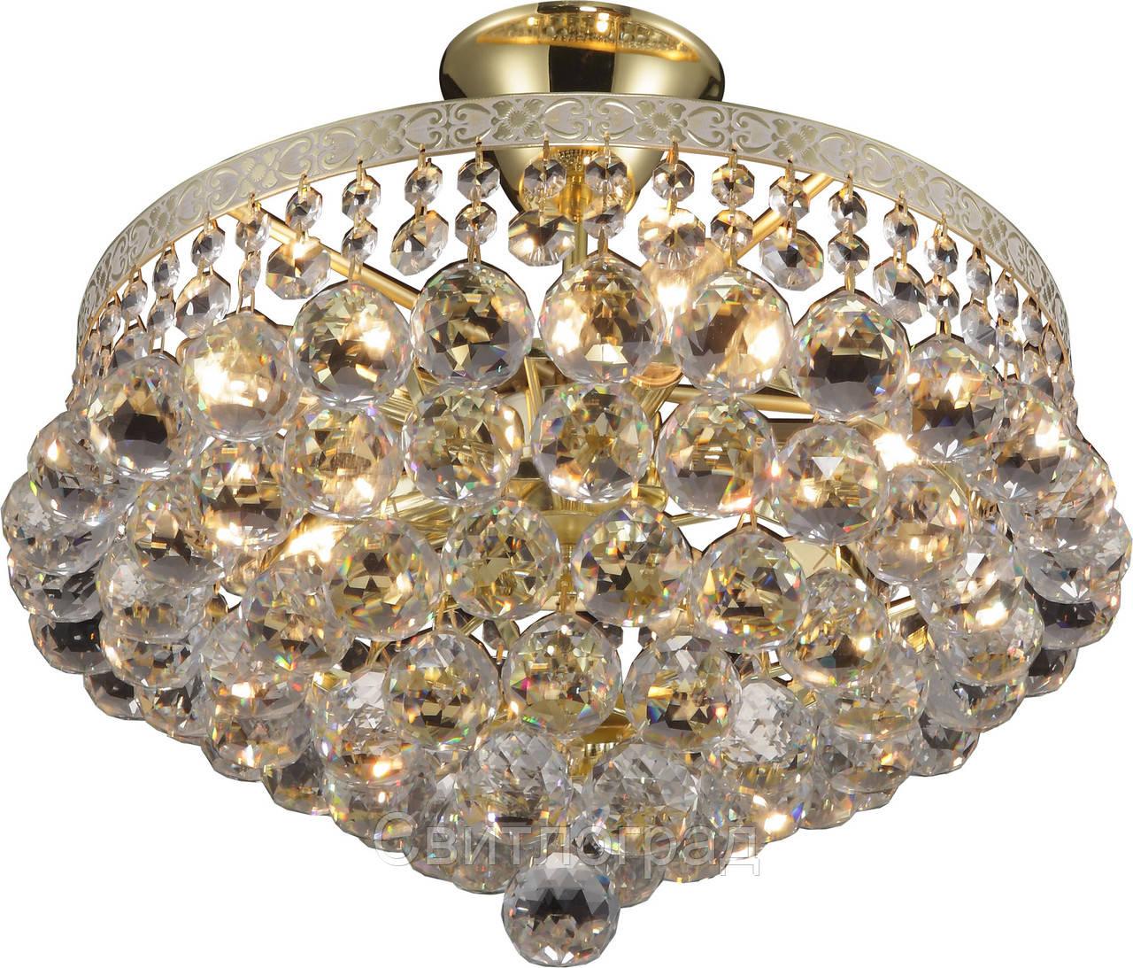 Люстра Хрустальная   Светильник Потолочный Altalusse INL-1117C-05 White Gold