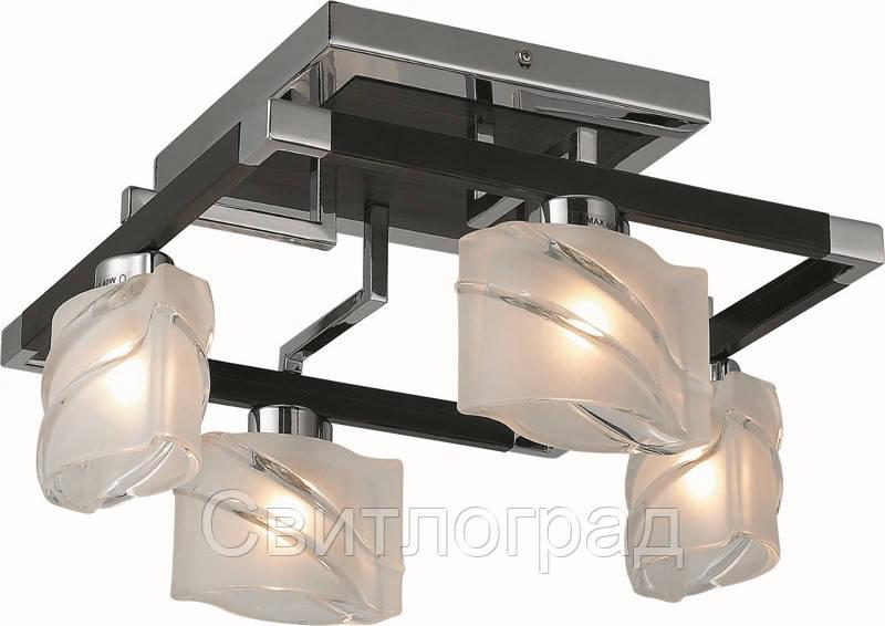 Люстра с Плафонами   Светильник Потолочный Altalusse INL-9164C-4 Chrome & Dark Wenge