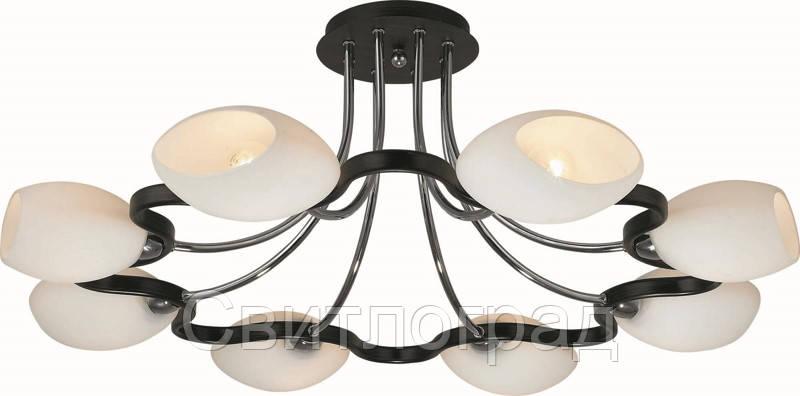 Люстра с Плафонами   Светильник Потолочный Altalusse INL-9210C-08 Chrome & Dark Wenge