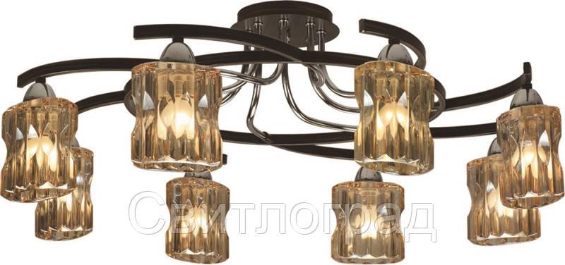 Люстра с Плафонами   Светильник Потолочный Altalusse INL-9231C-08 Chrome & Dark Wenge