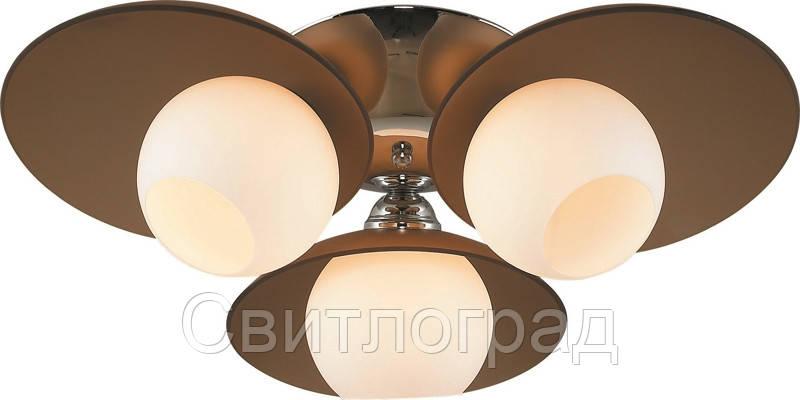 Люстра с Плафонами   Светильник Потолочный Altalusse INL-9290C-03 Chrome & Tea