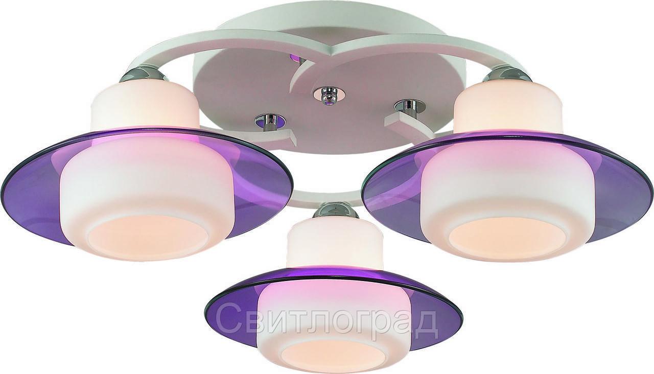 Люстра с Плафонами   Светильник Потолочный Altalusse INL-9292C-03 White & Violet