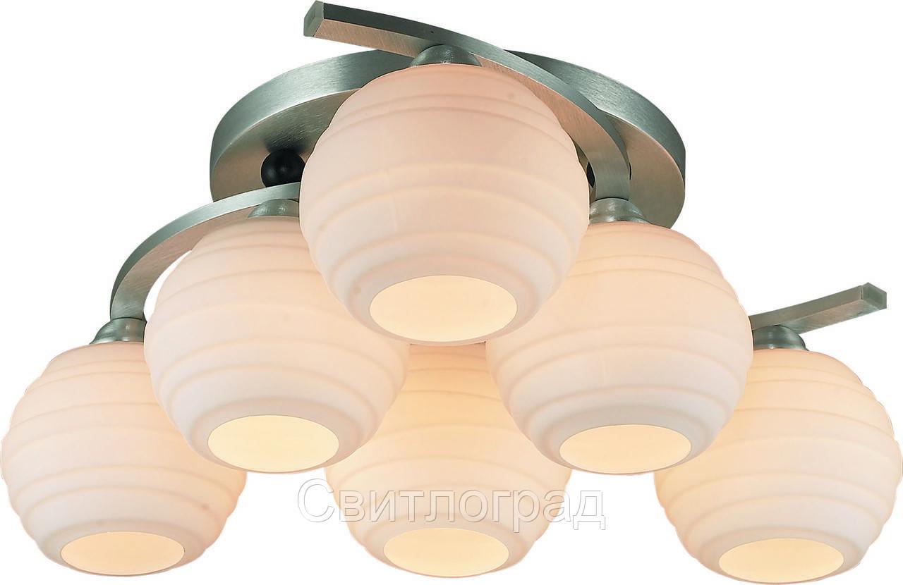 Люстра с Плафонами   Светильник Потолочный Altalusse INL-9296C-06 Aluminium & White