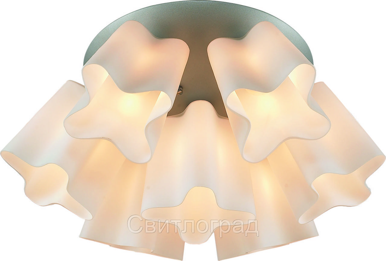 Люстра с Плафонами   Светильник Потолочный Altalusse INL-9299C-07 Silver & White