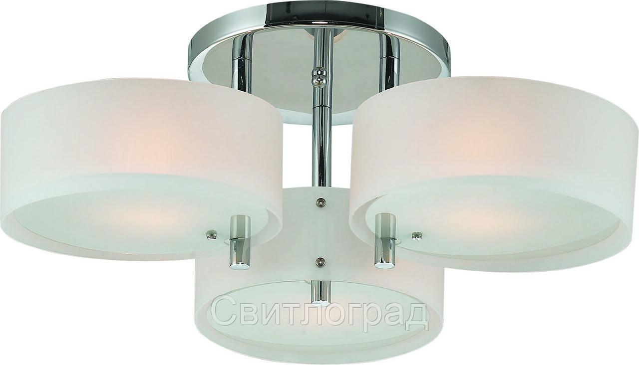 Люстра с Плафонами   Светильник Потолочный Altalusse INL-9300C-03 Chrome & White