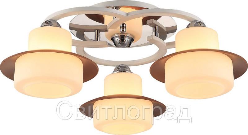 Люстра с Плафонами   Светильник Потолочный Altalusse INL-9327C-03 Chrome & White