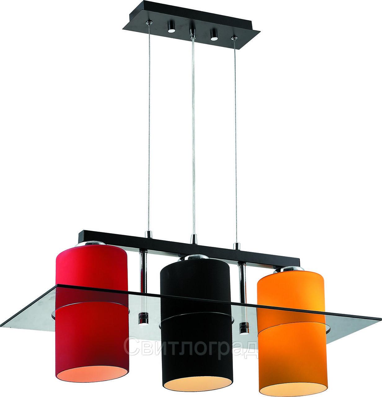 Люстра с Плафонами   Светильник Подвесной Altalusse INL-9171P-03 Amber & Red & Black