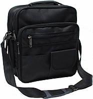 Сумка через плечо с карманами (Черный)