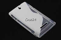 Чехол накладка для Sony Xperia E C1505 C1605 матовый / прозрачный, фото 1