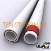 Полипропиленовая труба с внутренним слоем из стекловолокна ALPHA PLAST 25 мм для отопления и горячей воды