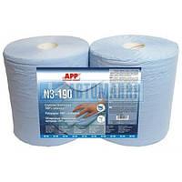 APP 090414 Обтирочный материал Premium 3-х шаровой гофр.190м/п голубого цвета