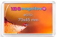 Сувенирные акриловые магниты 78х52 мм с фотографией 70х45 мм
