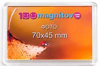 Сувенирные акриловые магниты 78х52 мм с фотографией 70х45 мм, фото 1