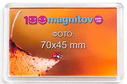 Акриловые магниты с фото. Размер 78х52 мм под фото 70х45 мм