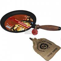 Сковорода чугунная 24 см блинница 99001