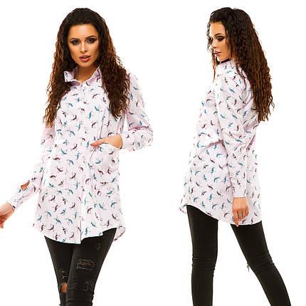 """Удлиненная женская рубашка-туника """"Laster"""" с карманами и длинным рукавом (2 цвета), фото 2"""
