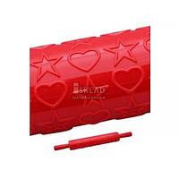 Скалка 25см текстурная Сердце Empire EM-8971