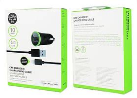 Belkin универсальный USB автомобильный адаптер 2.1A + USB кабель