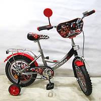 Велосипед 14 дюймов Profi  PF1446 черно-серый