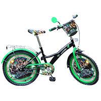 Велосипед 20 дюймов Profi TL203 черно-зеленый